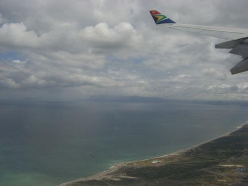 Blick in Richtung KApstadt und auch auf den Tafelberg